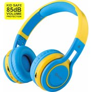 Contixo Kid Safe 85db Over the Ear Foldable Wireless Bluetooth Headphone w/ Volume Limiter,