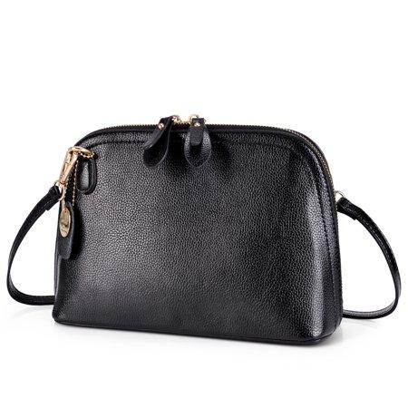 Vbiger Fashion Casual Women Handbag PU Leather Small Shoulder Bags Tote Bags, Black