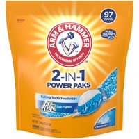 Arm & Hammer 2-IN-1 Laundry Detergent Power Paks 97 count