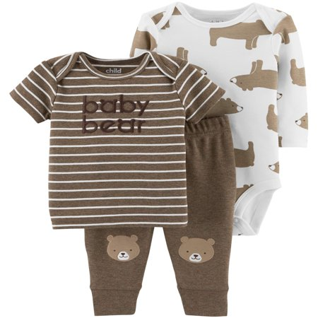 Carters Halloween Onesies (Long Sleeve Bodysuit, T-Shirt & Pants, 3pc Outfit Set (Baby)