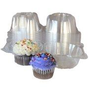 Individual Plastic Cupcake Boxes100pcs Single Clear Muffin Box Mini Cat Head