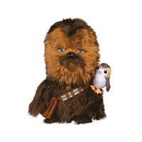 "Comic Images Large (12"") Super Deformed Plush Star Wars Episode VIII Chewbacca w/Porg"