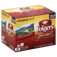 Folgers 100% Colombian K-Cup Coffee Pods, 36 Count