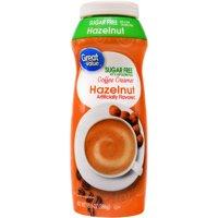 (6 Pack) Great Value Coffee Creamer, Sugar Free, Hazelnut, 20 fl oz