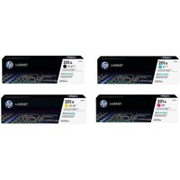 HP 201A (CF400A, CF401A, CF402A, CF403A) Original LaserJet Toner Cartridge 4-Color Set -- Black, Cyan, Magenta, Yellow