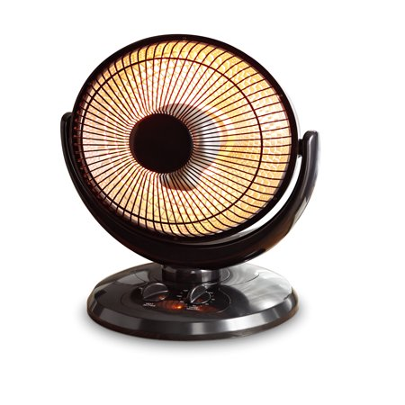 Mainstays Infrared Oscillating Dish Heater, Black, (Gas Fired Infrared Heaters)