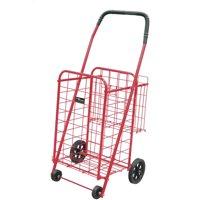 Easy Wheels Mini Shopping Cart Plus, Red, 1ct