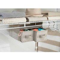 InterDesign Chevron Fabric Hanging Closet Storage Organizer, 2 Drawers for Wire Shelving, Taupe/Natural