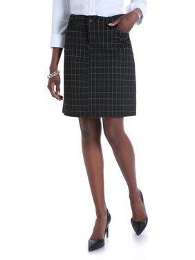 Women's Ponte Knit Comfort Waist Skirt