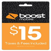 Boost Mobile $15 Re-Boost Card (Email Delivery)