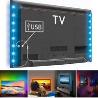 "TSV 37.5"" LED Strip Lights for 32-60 inch TV Backlight 16 Color RGB LED Bias Lighting Multi Color(16 Colors) for HDTV PC Monitor"