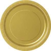 Red Paper Dinner Plates, 9in, 50ct