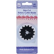 Rotary Cutter Blade Refill-45mm Wide Skip Cut 1/Pkg