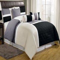 Chezmoi Collection Upland 7-Piece Medallion Patchwork Comforter Set
