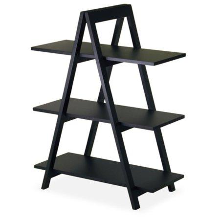 Wood A-Frame 3-Tier Shelf, Black