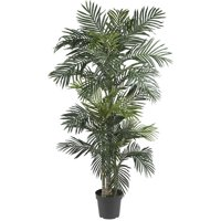 Nearly Natural 6.5-ft. Artificial Golden Cane Palm Silk Tree, Green