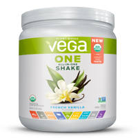 Vega One Organic All in One Shake, French Vanilla 12.2 oz, 9 servings
