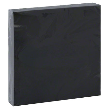 Paper Luncheon Napkins, 6.5 in, Black, 20ct (Gingham Paper Napkins)
