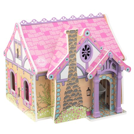 KidKraft Wooden Enchanted Forest Dollhouse with 16-Piece Accessories for 5-Inch Dolls, Opens and