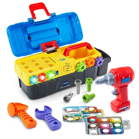 VTech Drill & Learn Toolbox With Working Drill and Tools