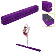 8e428da60e90 Ktaxon Upgrade 7' Folding Gymnastics Balance Beam for Skill Performance  Training, Purple, Flannel