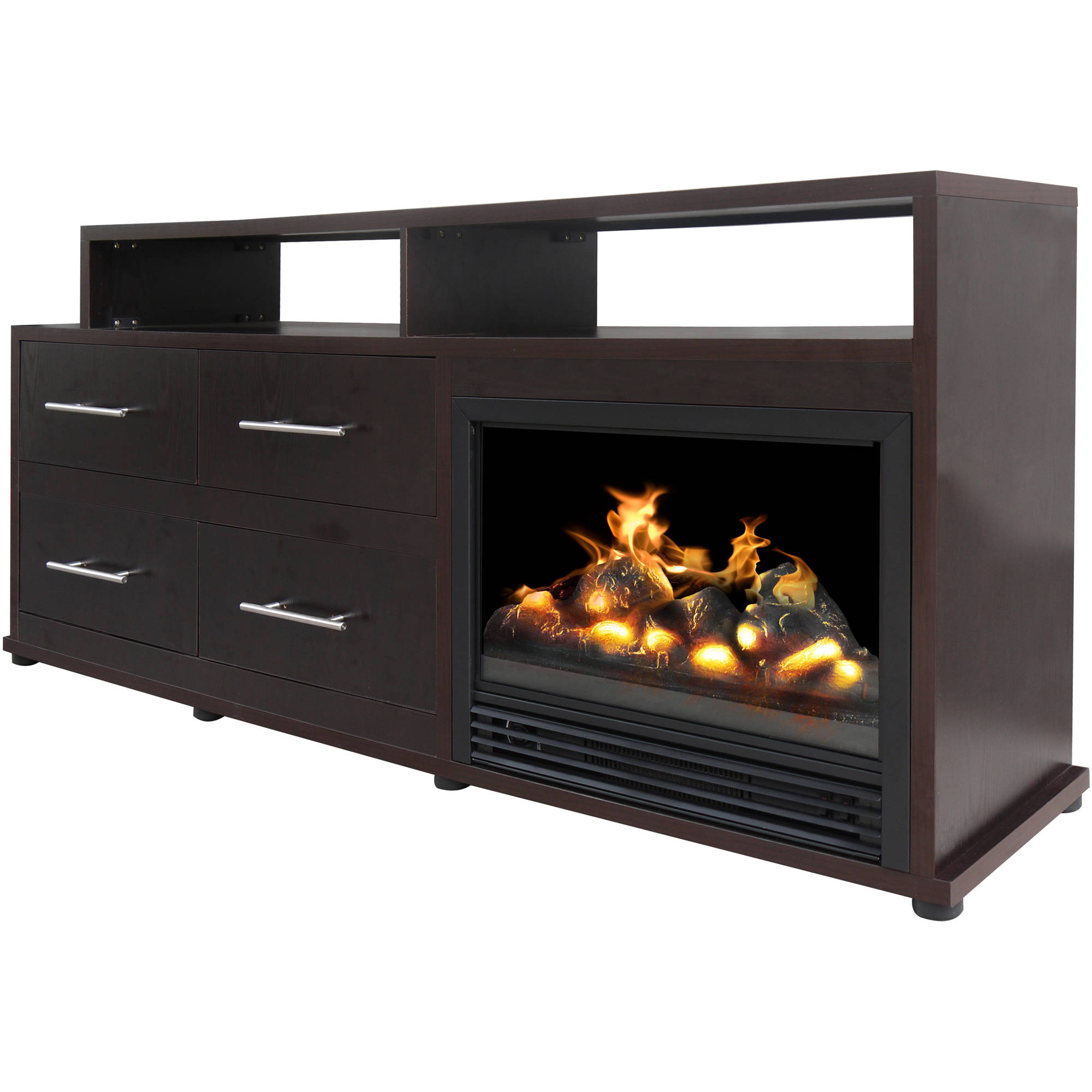 Décor Flame Cameron 66 Media Fireplace For Tvs Up To 70