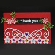 Heepo Flower Crown Lace Paper Arts Embossed Carbon Steel Cutting Die DIY Card Stencil