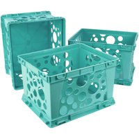 Storex Large File Crate,Teal (3 units/pack)