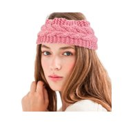 1abb1b40332 Zodaca Women Headband Crochet Knit Knitted Girl Lady Fashion Head Warmer  Winter Warmth Headband Headwrap Hairband