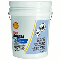 Shell Rotella T4 15W-40 Heavy Duty Diesel Oil, 5 gal.