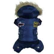 682595dda Blue Waterproof Warm Winter Pet Coat Jackets for Small   Medium   Large Dogs