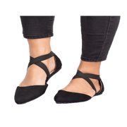 Women Ankle Strap Ballet Flats Criss Cross Shoes Casual Pump Comfy Shoes Fashion
