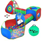 a8c92b246697 5pc Kids Ball Pit Tent s and Tunnel s, Toddler Jungle Gym Play Tent with  Play Crawl Tunnel Toy, for Boys babies infants Children, w/ Basketball  Hoop, Indoor ...