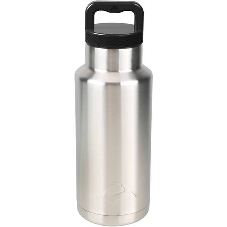Folding Thermos Stainless Steel Bottle (Ozark Trail 36oz Double Wall Stainless Steel Water Bottle )