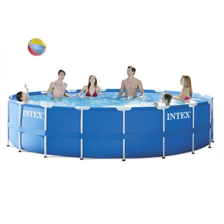 """Walmart: Intex 18' x 48"""" Metal Frame Above Ground Pool with Filter Pump Only $299"""