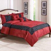 Better Homes & Gardens Full or Queen Ruby Comforter Set, 5 Piece