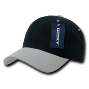 2a9306c3291 DECKY Deluxe Polo Solid Two Tone Baseball Hats Hat Caps Cap For Men Women  Black