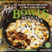 Amy's Frozen Bowls, Mexican Casserole, Non-GMO, 9.5-Ounce