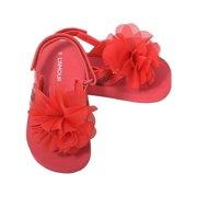 8b98ae6c8eb7 Red Sequin Strap Flower Flip Flop Sandals Toddler Girls 5-10