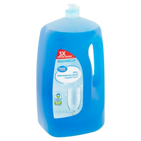 - Great Value Ultra Original Scent Dishwashing Liquid, 90 fl oz