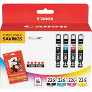 Canon, CNMCLI226BCMY, CLI-226 4 Color Value Pack, 4 / Pack