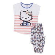 3d885cebf Girls' Hello Kitty Girl's 2 Piece Pajama Sleep Set (Little Girl ...