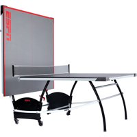 ESPN Official Size Table Tennis Table with Built-in Accessory Storage Space