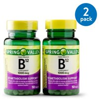 Spring Valley Vitamin B12 Timed Release Tablets, 1000 mcg, 150 Ct, 2 Pk
