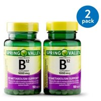 (2 Pack) Spring Valley Vitamin B12 Timed Release Tablets, 1000 mcg, 150 Ct, 2 Pk