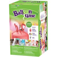 Balloon Time 9.5in Helium Tank Kit, Includes 30 Balloons & Ribbon