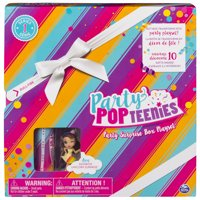 Party Popteenies - Rainbow Unicorn Party Surprise Box Playset with Confetti, Exclusive Collectible Mini Doll and Accessories, for Ages 4 and Up