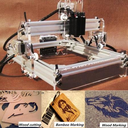 Mini 2000MW DIY Mark Logo Engraving Laser Engraver Cutting Machine Laser Cutter Printer 17x20cm Self-assembly ()