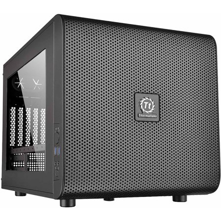 Thermaltake Core V21 mATX Small Form Factor Cube Desktop Computer Chassis - CA-1D5-00S1WN-00