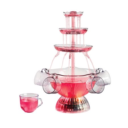 Nostalgia LPF150 Vintage Collection Lighted Party Fountain, Clear - Lighted Punch Fountain